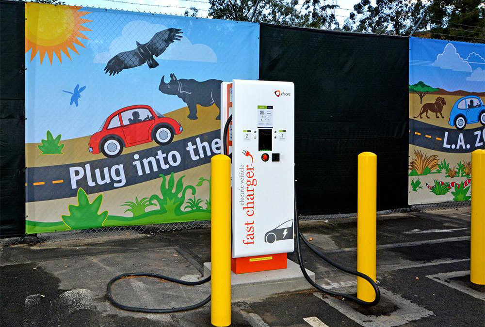 L.A. Zoo, LADWP, to Provide Free Public Electrical Vehicle Charging Stations